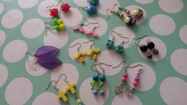 #watdoetvanessanu zelfgemaakt oorbelletjes oorbellen sierraad zoet geluk diy jewelry V@nessa