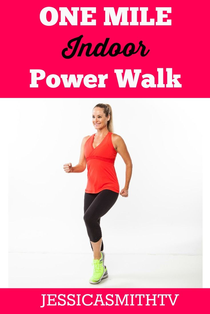 18 min 1 mile indoor power walk any time for some quick low impact cardio