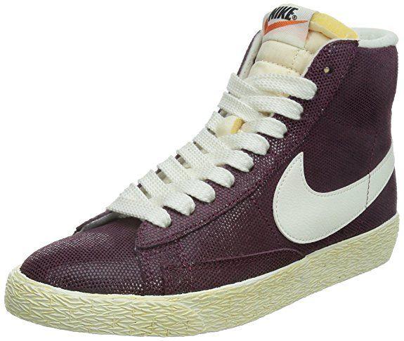 Nike Blazer Mid Suede Vintage, Damen Basketballschuhe, Rot (Villain Red/Sail-Pink Pow 611), 38 EU
