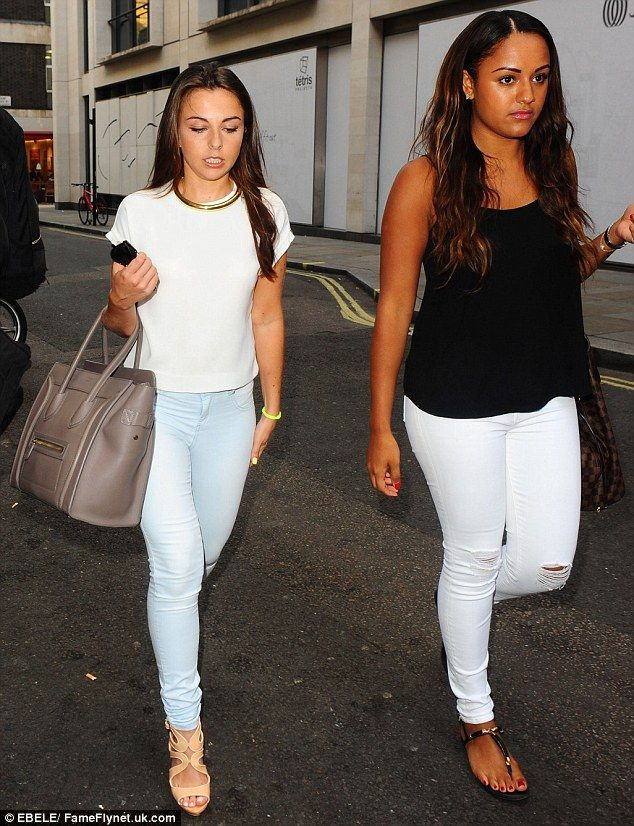 Night up West: EastEnders actress Louisa Lytton (L) arrives with a female pal...