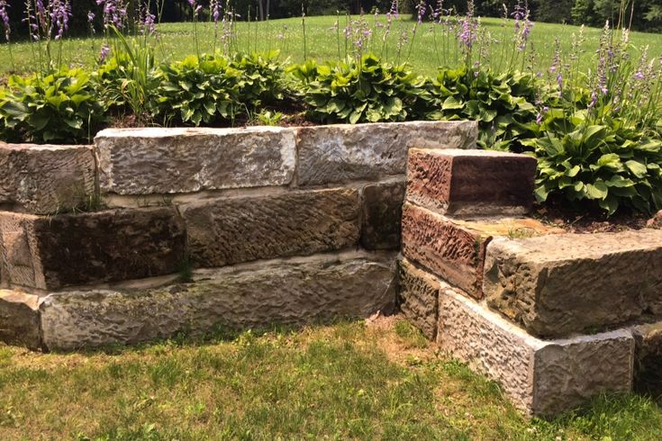 Using Barn Foundation Stone In The Landscape Thinking