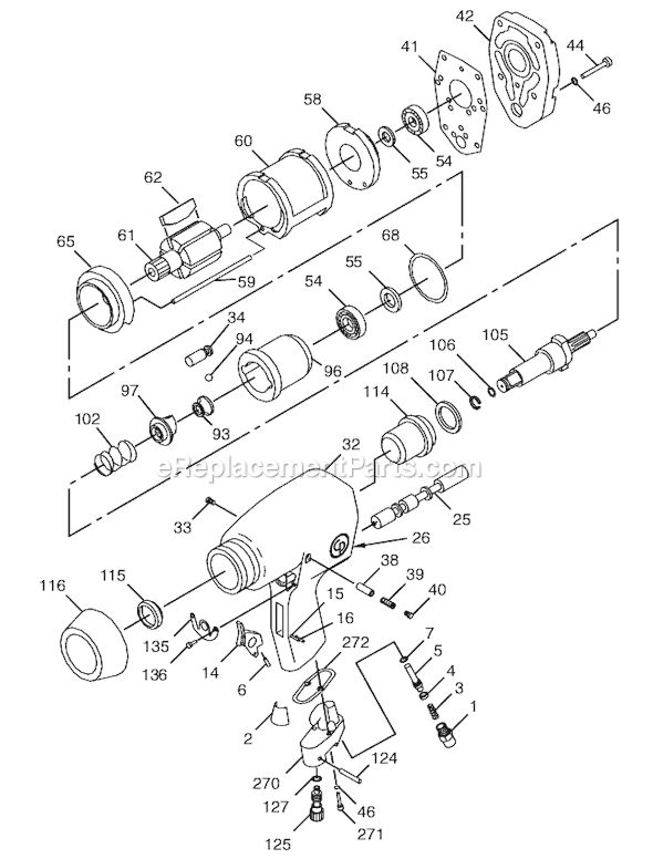 Chicago Pneumatic CP746-2 Parts List and Diagram