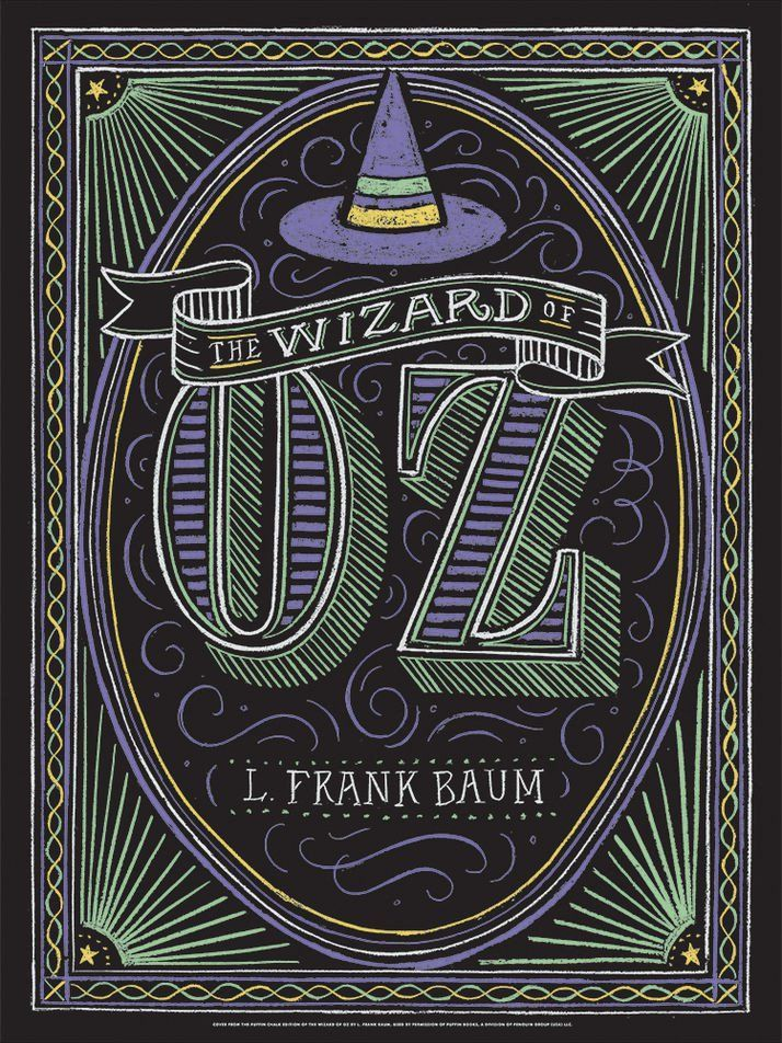 Puffin Chalk Wizard of Oz Poster