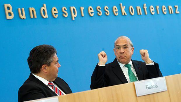 Sigmar Gabriel and José Ángel Gurría