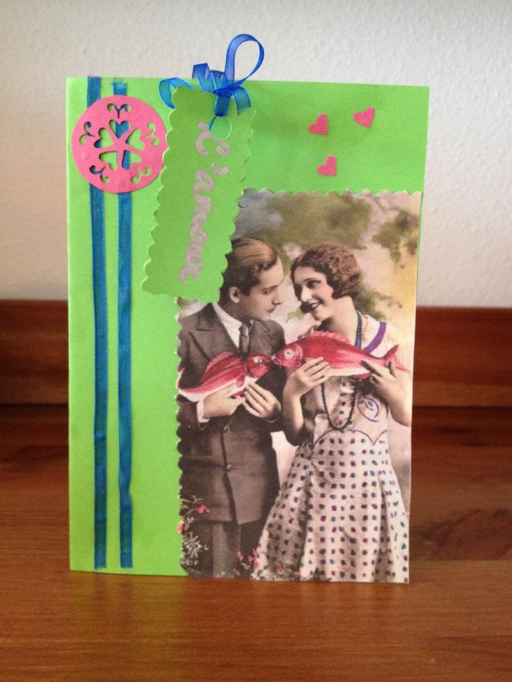 Eerste zelfgemaakte kaartje :) ~ l'amour