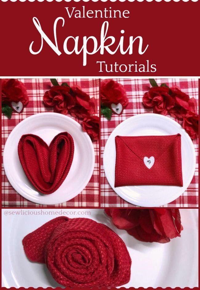Valentine Rose Napkin Tutorial Valentine Community Pinterest Party