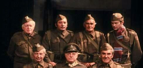 Another picture of the cast of DaD's army with Arnold Ridley.