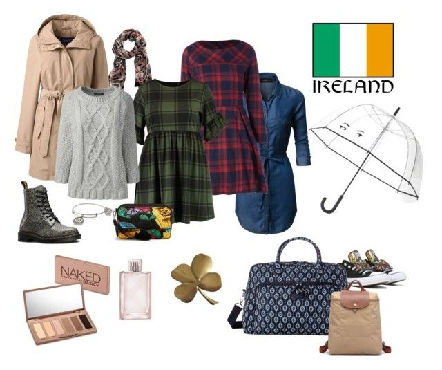 """Ireland in the spring"" by deanna-lilley-shaughnessy on Polyvore featuring LE3NO, Converse, Vera Bradley, Alex and Ani, Boohoo, Longchamp, Lands' End, Dr. Martens, Kate Spade and Urban Decay"