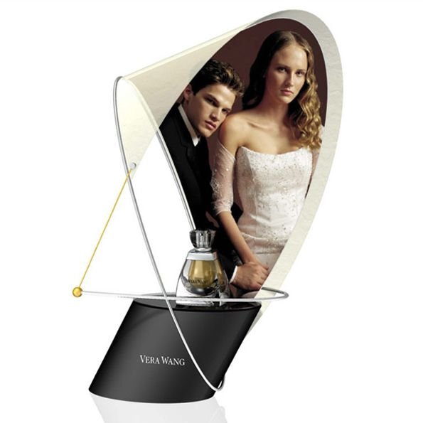 Vera Wang fragrance product launch displays