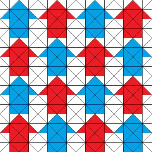 Tessellating Arrows Quilting Pattern Triangulos