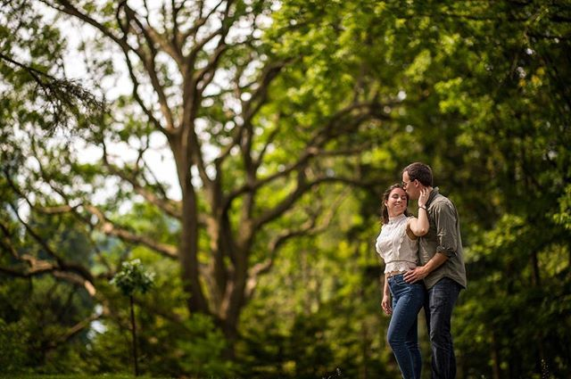 A fantastic #engagement session with our couple in Toronto. These two were so much fun and we can't wait until their #wedding coming up. This one shot with the 105mm f/1.4.