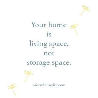 living space not storage space