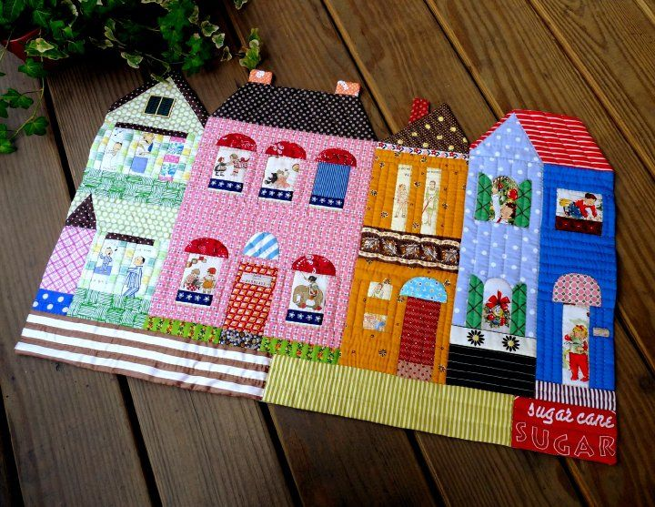 so-cute houses as placemats or table runner