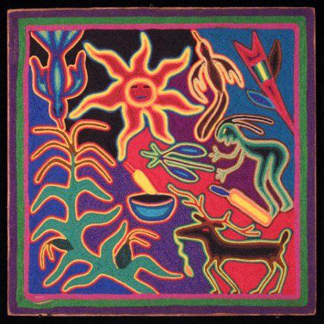 huichol yarn painting