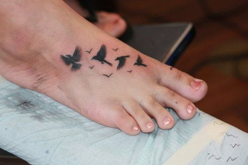 Soar: Tattoo Ideas, Every Girls, Birds Tattoo, Girls Generation, Codes Permalink, Flowers Foot Tattoo, Dainty Tattoo, Checkoutmyink Com, Birds On Foot Tattoo