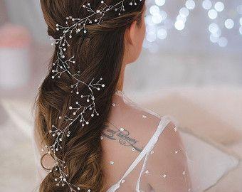 Melena pelo vid vid de pelo nupcial diadema de novia por LikaBridal