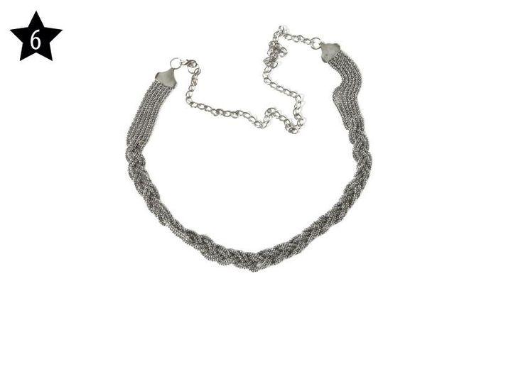US FASHION STORE - Cintura in metallo con catena color argento.