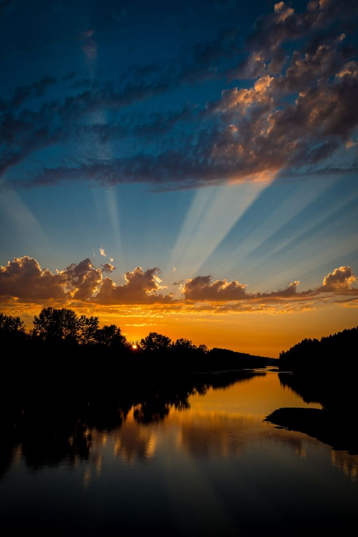 ~~Sunset over the Skykomish River • epic sun rays, Washington by Jim Griesmer~~