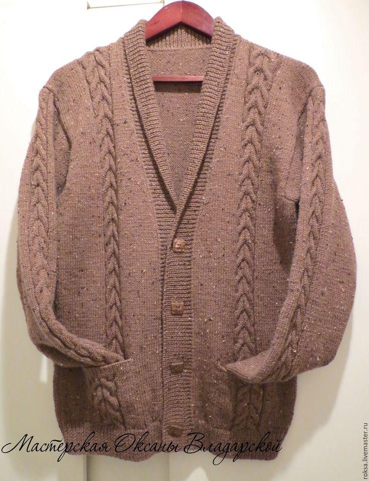 """Купить Вязаный мужской джемпер """"Chocolate"""" - вязаный мужской свитер, вязание на заказ, вязание для мужчин"""