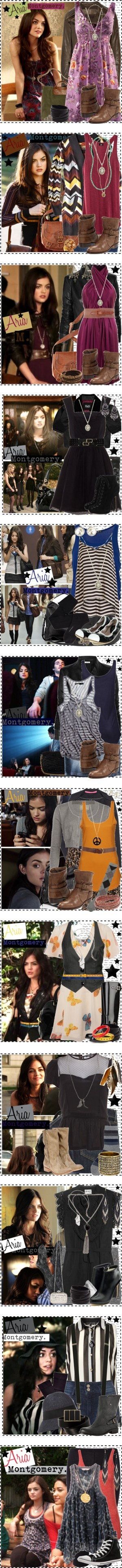 """Aria Montgomery [Pretty Little Liars]."" by silver-screen-style ❤ liked on Polyvore"