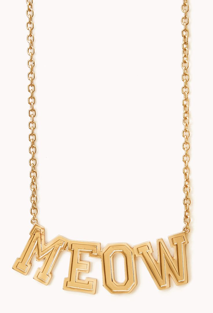 Sporty Meow Pendant Necklace | FOREVER21 - 1000127891