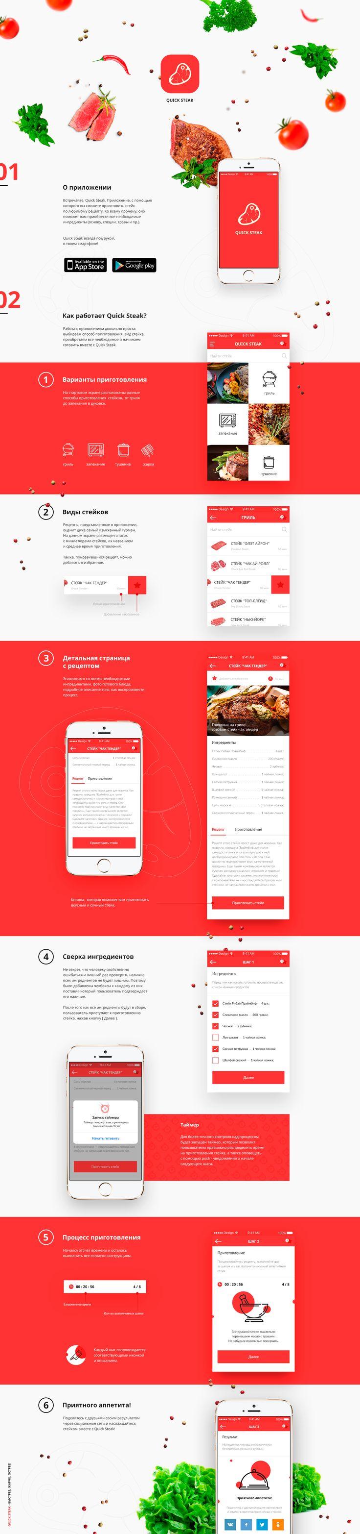 Quick Steak - App on Behance
