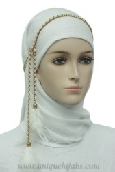 This is what I do all the time- turn necklaces into hijab accessories! It's so much fun and a creative way to dress up an hijab :)