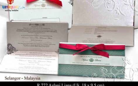 Undangan Pernikahan – R772 || Unique Card Wedding Invitation