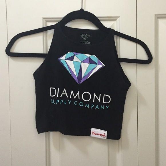 Diamond supply company black crop top! Diamond supply company black crop top! Size small! No stains or rips! Brand new condition!! Diamond supply company Tops Crop Tops