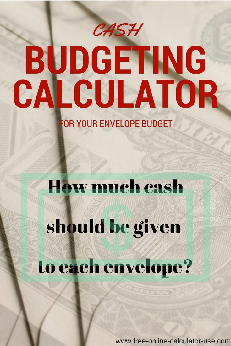 cash budgeting calculator for hybrid envelope system money