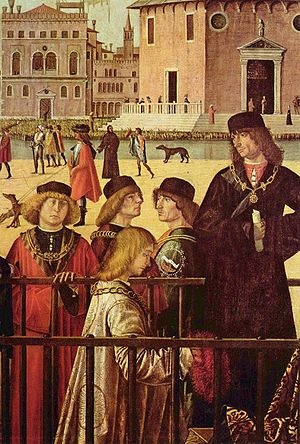 Arrival of the English Ambassadors (Vittore Carpaccio, 1495)