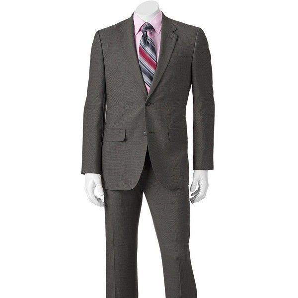 Men's Apt. 9® Extra Slim-Fit Unhemmed Suit (130 CAD) ❤ liked on Polyvore featuring men's fashion, men's clothing, men's suits, med grey, mens suits, slim fit mens clothing, men's apparel, mens clothing and mens grey suits