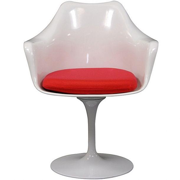Haas Arm Chair With Red Cushion | Memoky.com