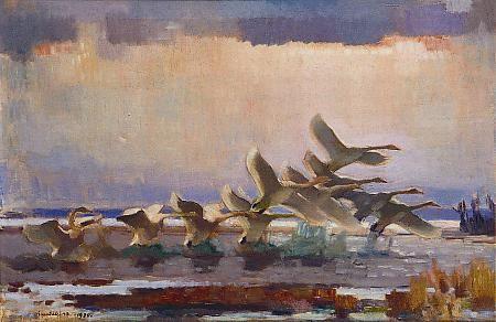 """""""The Swans of Ayrapaa"""" / """"Äyräpään joutsenet"""" 1930 Lennart Segerstråle"""