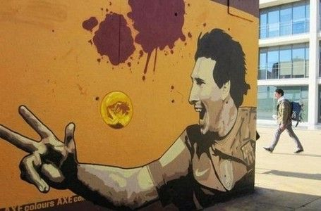 Pictures of the Day: Graffiti tribute to Messi   totalBarça   Rebel Football   Scoop.it