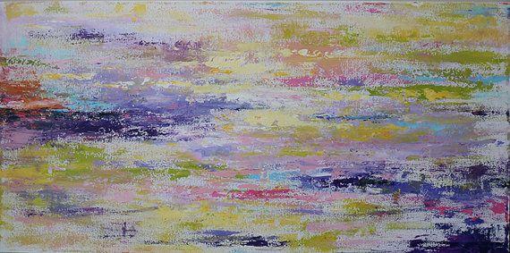 pintura sobre lienzo arte de pared lona de arte raya color