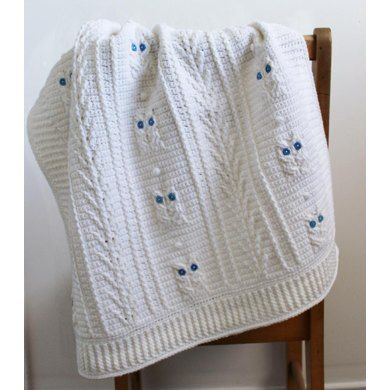 Little Owl Baby Blanket Crochet pattern by Little Squirrel Designs | Crochet Patterns | LoveCrochet