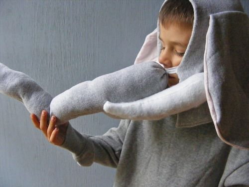 DIY Elephant Costume Tutorial (includes tusks!)