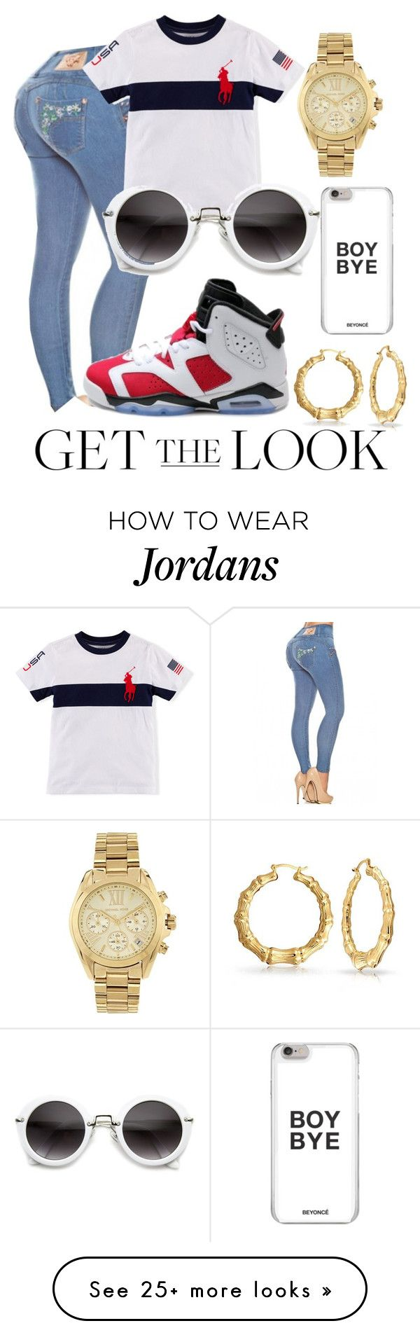 """Get the look"" by couture-channel on Polyvore featuring NIKE, Michael Kors, Bling Jewelry, GetTheLook and airportstyle"