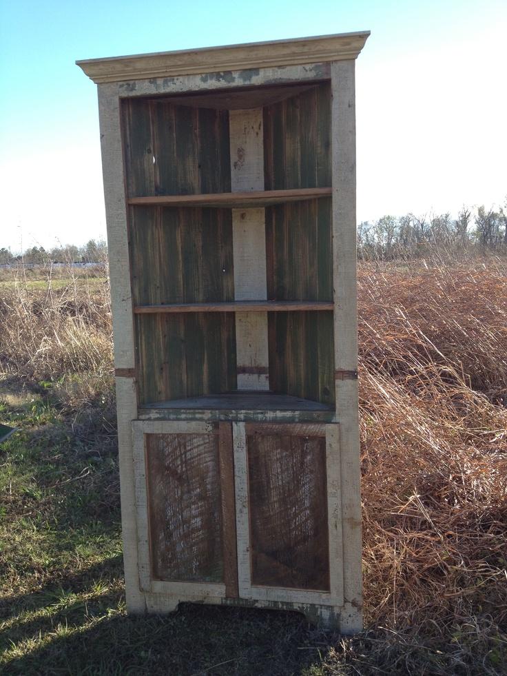 Rustic Corner Cabinet
