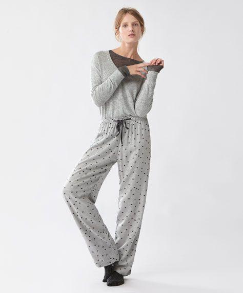 Длинные брюки 'Сердечки'
