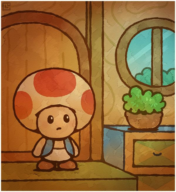 Paper Mario 64: First Toad House by Cavea