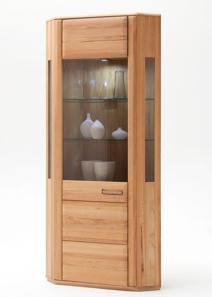 Eckvitrine Kernbuche Asti Vitrinenschrank 1-türig Holz teilmassiv 7967. Buy now at https://www.moebel-wohnbar.de/eckvitrine-kernbuche-asti-vitrinenschrank-1-tuerig-holz-teilmassiv-7967