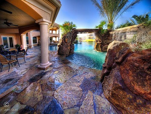 Natural looking pools dream home pinterest the o - Luxury swimming pools ...