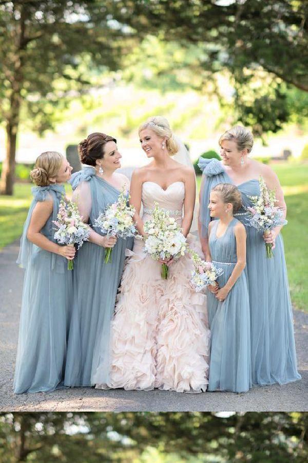 Discount Beautiful Plus Size Bridesmaid Dresses, Bridesmaid Dresses Blue