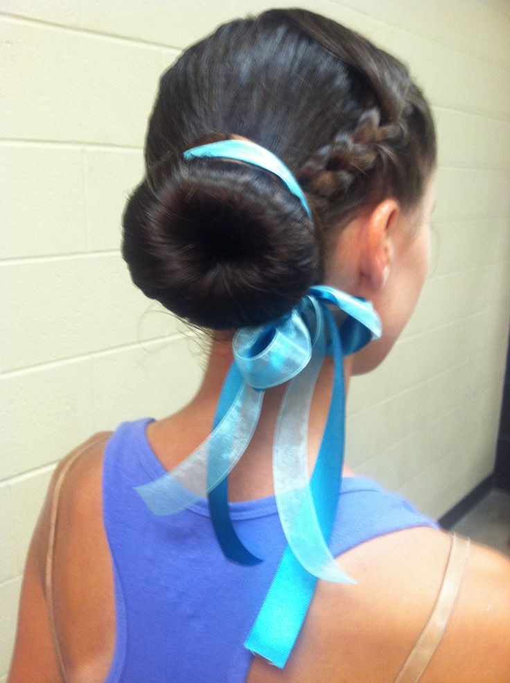 Competition hairstyle we used this year for color guard :)
