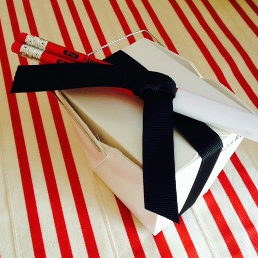 Adorable favors for a tae kwon do or martial arts party and a great list of what to put inside!
