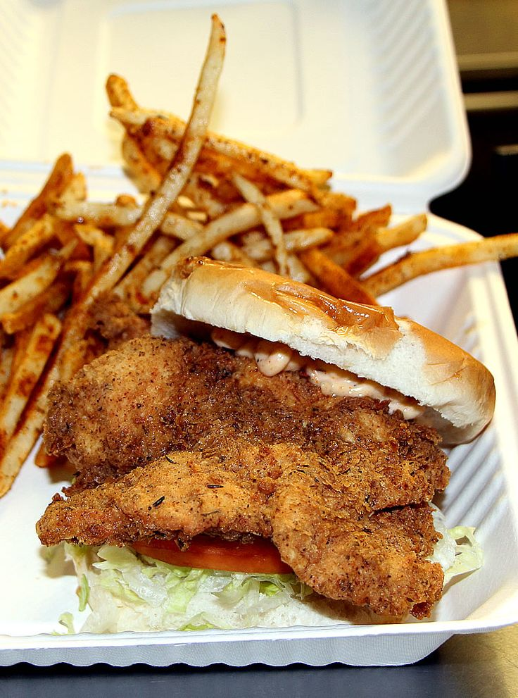 The Southern Fried Chicken sandwich from Chef Dan's Southern Comfort ...