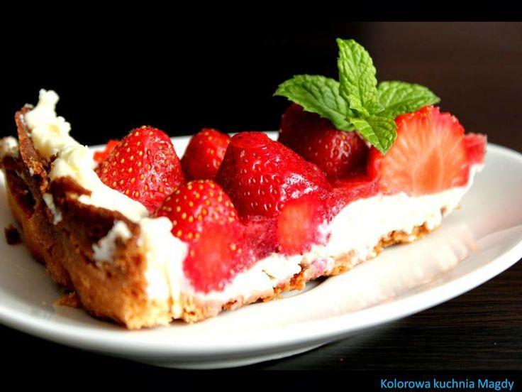 Kolorowa Kuchnia Magdy: Tarta z truskawkami i mascarpone