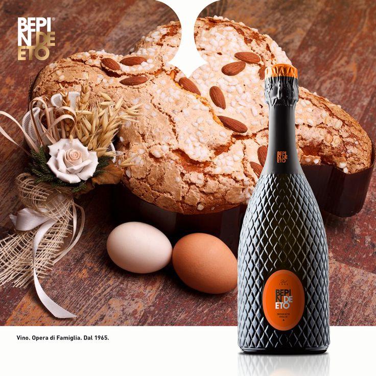 Perfetto da abbinare al dessert, specialmente con la tradizionale colomba pasquale, il nostro #Moscato è la sorpresa che non può mancare per chiudere in bellezza il vostro pranzo di #Pasqua. Con i nostri migliori auguri! #BepinDeEto #Vino_Opera_di_Famiglia #BuonaPasqua